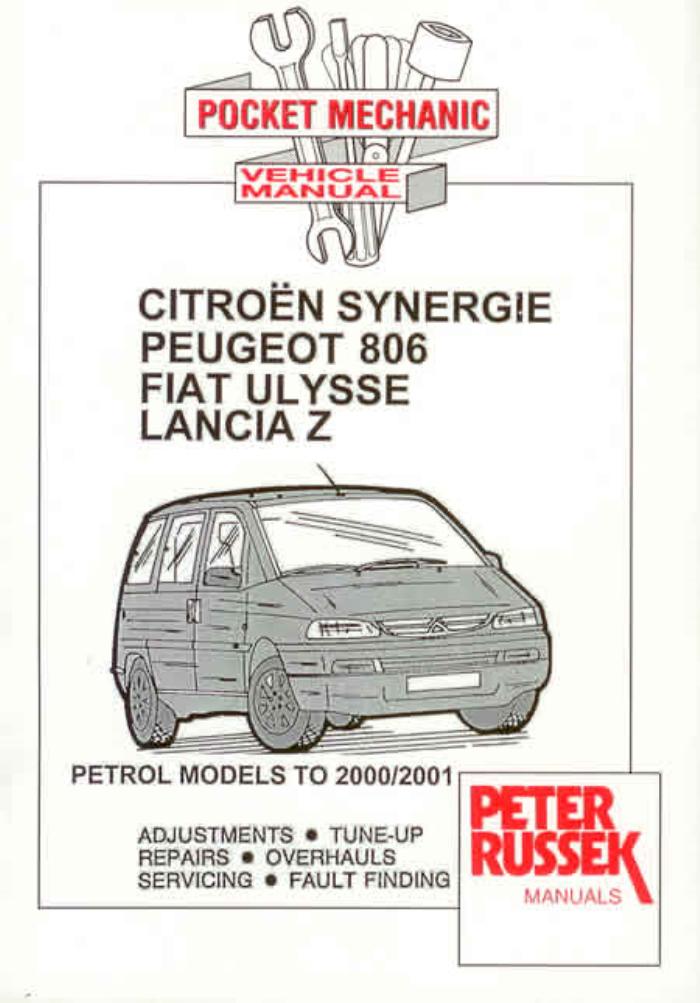 Peugeot Expert Citroen Dispatch Fiat Scudo Pocket Mechanic Manual 1995 on *NEW