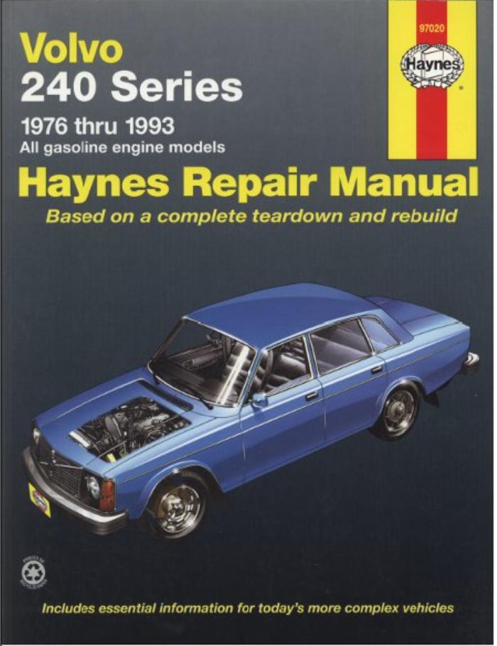 1976-1993 Volvo 240 242 244 245 Service Repair Workshop Shop Manual Book 1367
