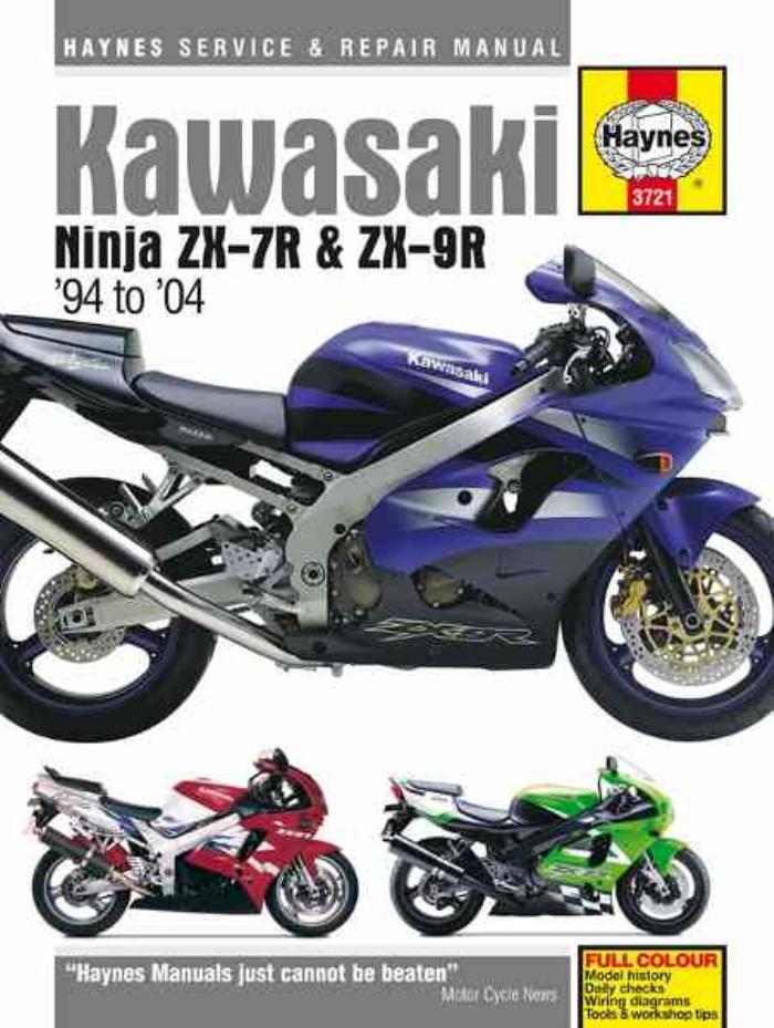Haynes Workshop Manual Kawasaki Ninja ZX-7R ZX-9R ZX 1994-2004 ...