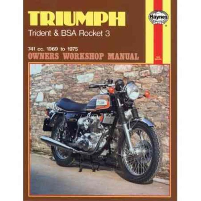 triumph trident bsa a75 rocket 1969 1975 haynes workshop triumph bonneville owner's manual triumph trophy owners manual