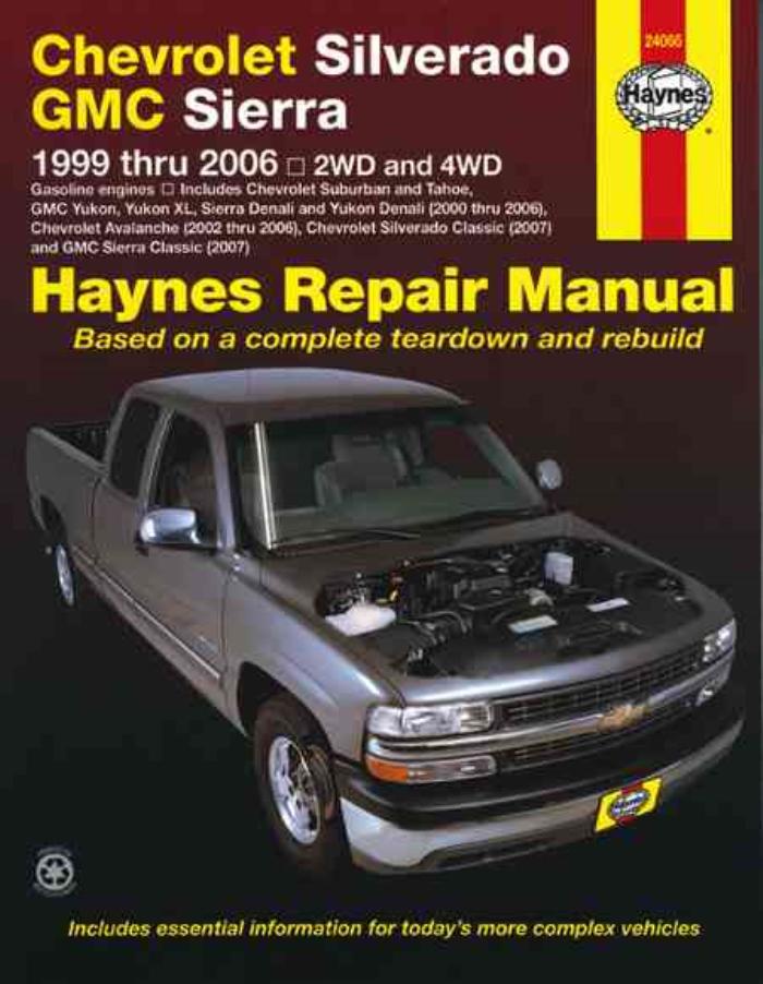 haynes workshop manual chevrolet silverado gmc sierra pick ups 1999 2006 repair eur 21 99. Black Bedroom Furniture Sets. Home Design Ideas