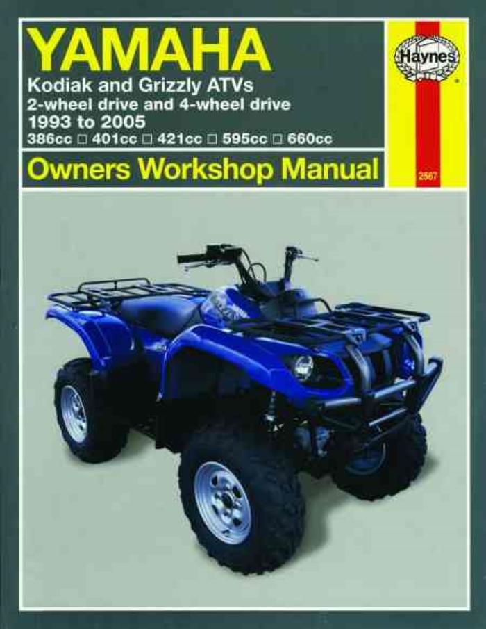 Yamaha Kodiak Grizzly ATV 1993-2005 New Haynes Manual ...