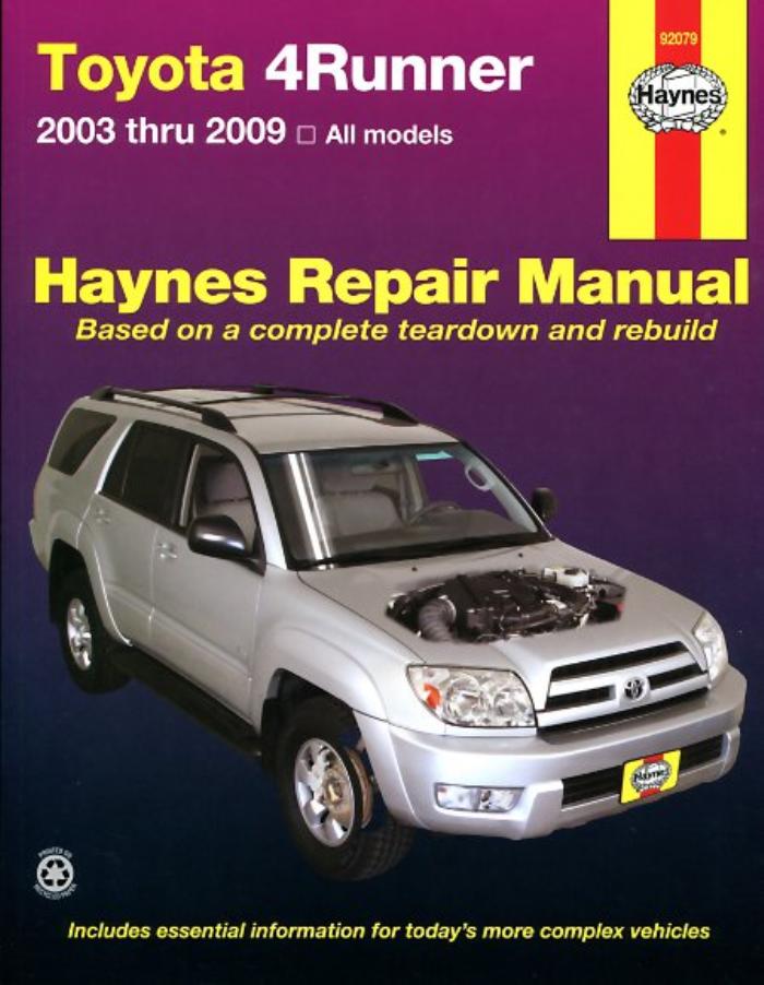 Haynes-Workshop-Manual-Toyota-4Runner-2003-2009-Service-amp-Repair