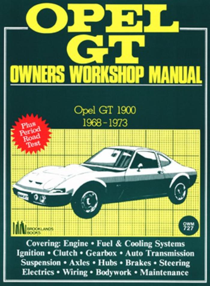 Owners Workshop Manual Opel GT 1900 1968-1973 Service /& Repair Road Tests