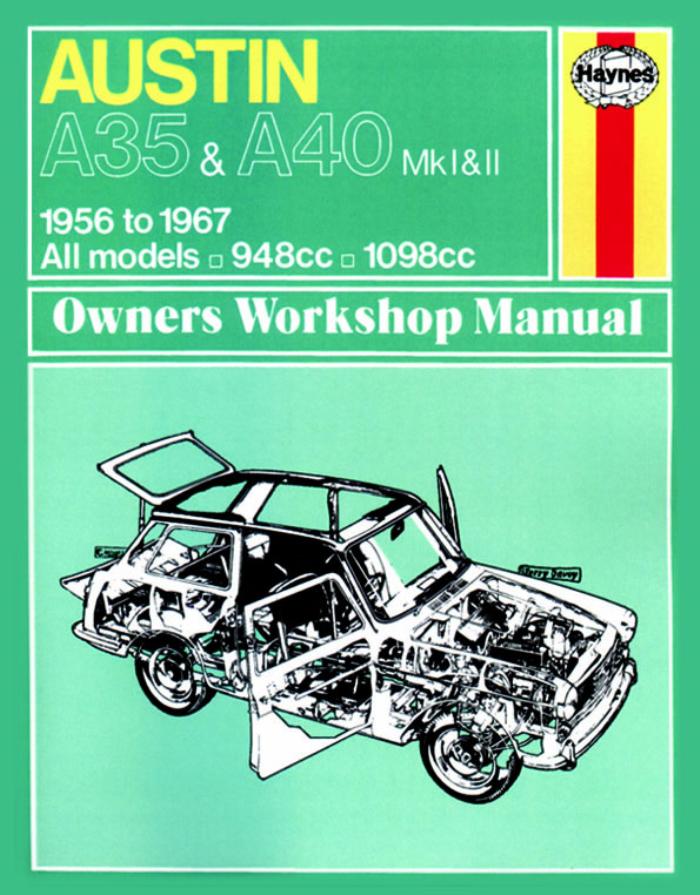 Haynes-Workshop-Manual-Austin-A35-and-A40-1956-1967-New-Service-Repair