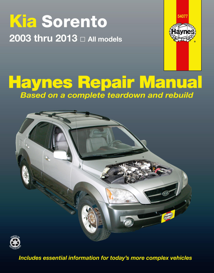 details about haynes workshop manual kia sorento 2003-2013 all petrol  models service repair