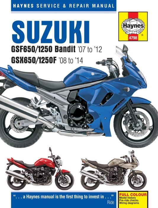 Suzuki-GSF650-1250-Bandit-2007-2012-GSX650-1250F-2008-2014-New-Haynes-Manual