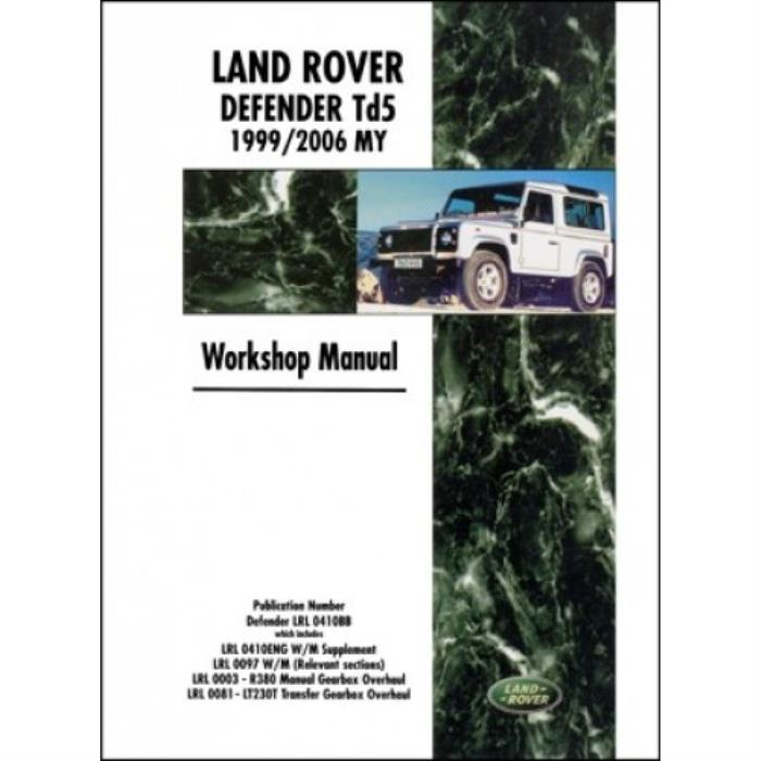 land rover defender td5 workshop manual 1999 2006 my new factory rh ebay co uk land rover discovery td5 workshop manual pdf land rover discovery 2 td5 workshop manual