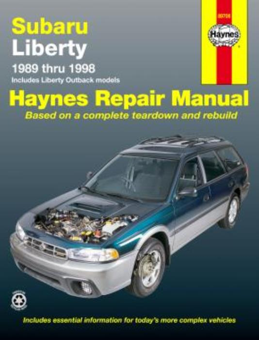 haynes workshop manual subaru liberty outback 1989 1998. Black Bedroom Furniture Sets. Home Design Ideas
