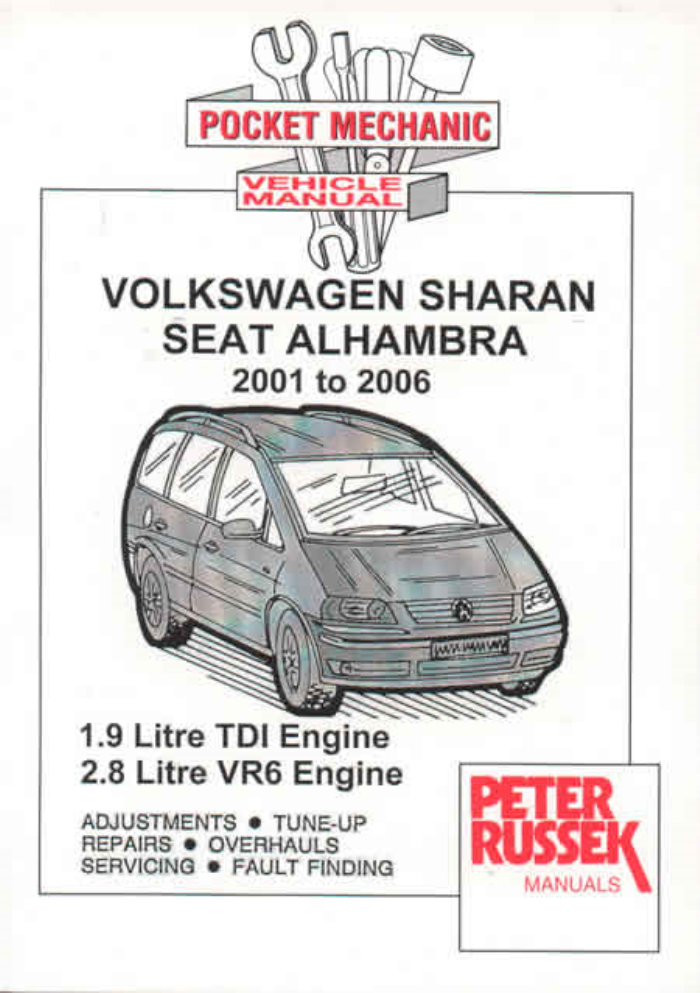 Workshop Manual Vw Sharan Seat Alhambra 1 9 Tdi 2 8 Vr6